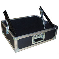 """Pop Up ATA Mixer Cases Available in 2 Sizes 8 Space and 10 Space 5-3/4"""" Under rails when down 2"""" Additional space behind rails for plugs Fully adjustable ratchet rails"""