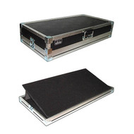 """Pop Up and Tilt Pedal Board in 1/4"""" Ply ATA Case - Unique! - 24 Inch"""