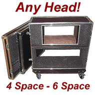"Rack/Head Combo 3/8"" ATA Case CUSTOM for ANY Head - Shock Mount"