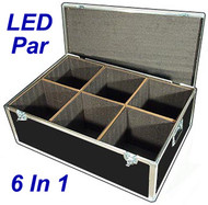 "LED PAR Lights 1/4"" ATA Case - 6 Compartments ID 12""x12""x14"" H"