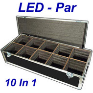 "LED PAR Lights 1/4"" ATA Case - 10 Compartments ID 8""x8""x10"" H"