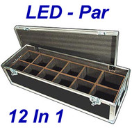 "LED PAR Lights 1/4"" ATA Case - 12 Compartments ID 6""x6""x10"" H"