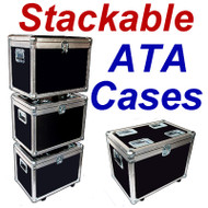 """STACKABLE"" ATA Case - Utility Trunk w/Wheels ID 23x15x17"