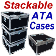 """STACKABLE"" ATA Case - Utility Trunk w/Wheels ID 23x23x13"