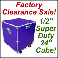 "Super Duty 24"" Cube Case Kit Supply Trunk - CLOSEOUT! Purple"