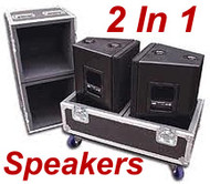 "2 In 1 Speaker - 3/8"" Ply ATA Cases - Deluxe Version - Custom Made!"