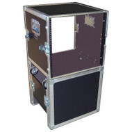 "Fantastic RACK - STAND 10 Space 10U 18"" Deep ATA Rack Case w/Wheels"