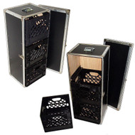 3 Milk Crate Drawers In ATA Style Case w/Dolly Wheels - 1000 Uses!
