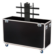 Custom ATA Road Case to Fit 1 LCD TV Monitor Screen from 42-50'' with Electric Lift
