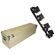 "New Heavy Duty Crate Style Bare Wood Par Cans On Truss Rod Cases Medium  Inside Dimensions  60"" x 10 7/8"" x 18 3/4"""