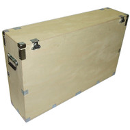 "Heavy Duty Crate Style Bare Wood Plasma Cases 61"" Plasma ID Inside Dimensions 61"" x 9"" x 28"""