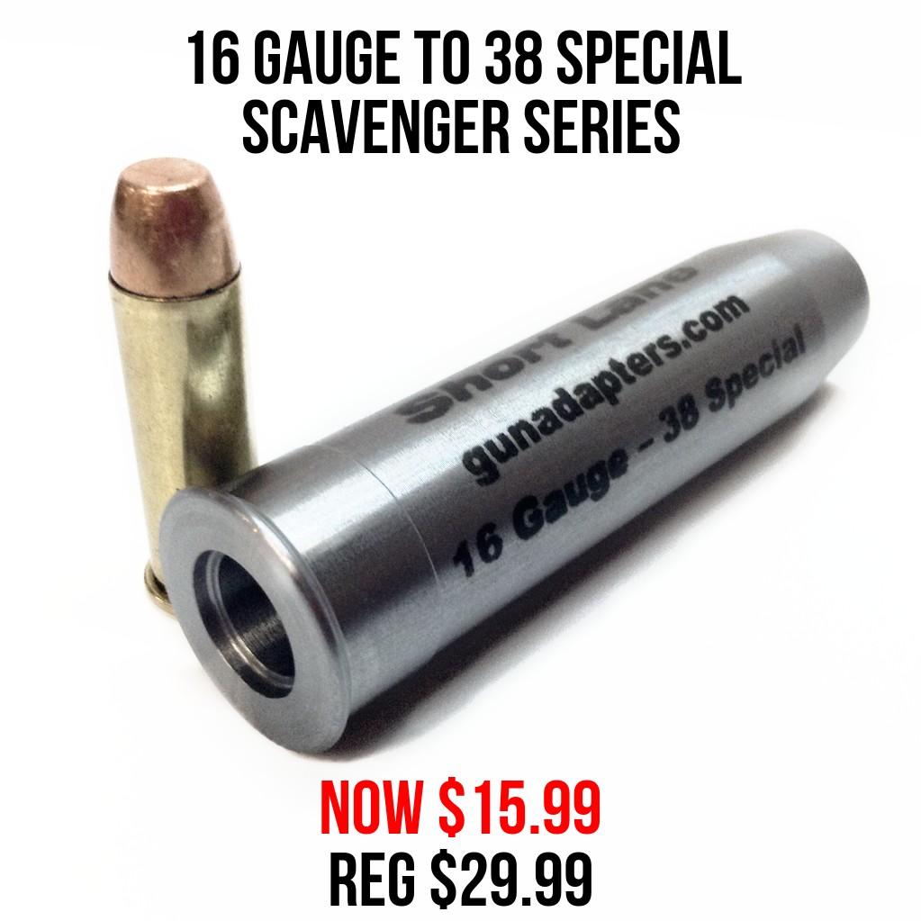 Scavenger Series 16 Gauge to 38 Special Now $15.99 Reg $29.99!