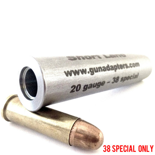 Smooth Bore 20 gauge to 38 Special Chamber Adapter