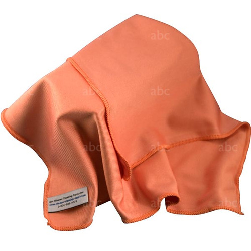 "Towel -- Microfiber - Triple Crown - Orange 16"" x 16"" - Each"