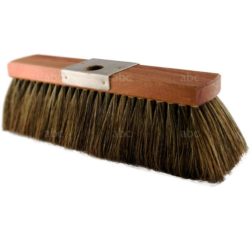 "Brush -- Hoghair - 100% Pure China Boar Bristle - Style M - Metal Plate - 16"" with 4"" Trim"