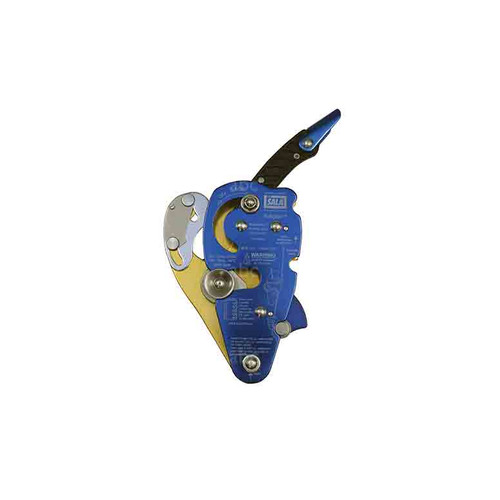 DBI Sala No Worries™ Double Stop Descender for 12.5-13.0mm rope- This one has a nifty blue plate that helps distinguish it from the other DBI Sala No Worries™ Double Stop Descender (for 10.5-12mm rope.)