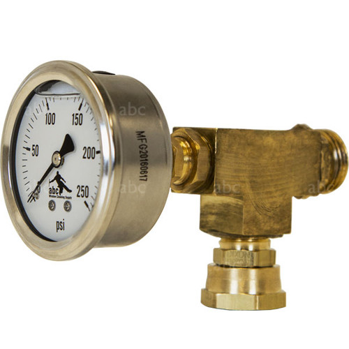 Triple Crown - PSI Pressure Gauge - with Male and Female Fittings