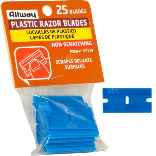 25 Pack - Plastic Razor Blades