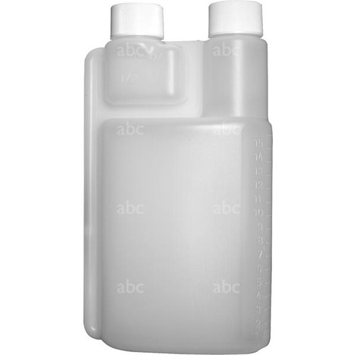 Bottle -- Measuring - 16 Ounce - Double Neck - Each