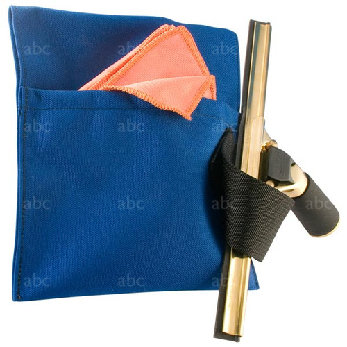 Pouch -- abc - Blue with One Outside Loop