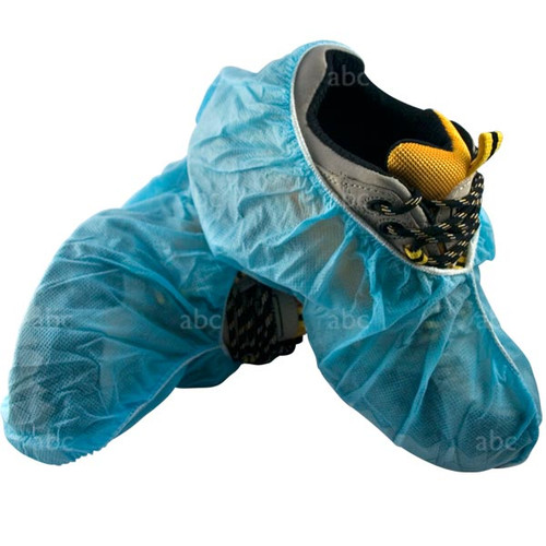 Foot Wear - Shoe Covers -- Blue - 50 Pair