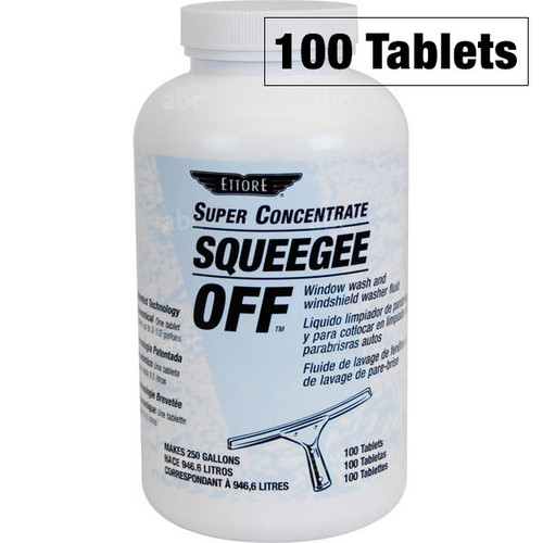 Chemical - Glass Cleaner - Ettore - Squeegee Off Tablets - 100 Tablets