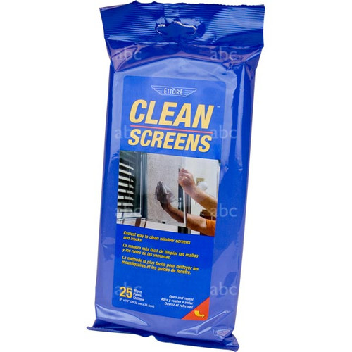 Chemical - Screen Cleaner - Ettore - Towelettes Moist - 25 per Pack - One Pack