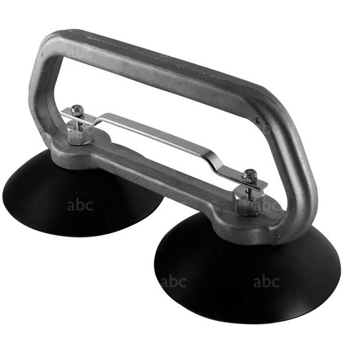 "Suction Cup Grabber - Double - 5"" - Stainless Steel Fittings"