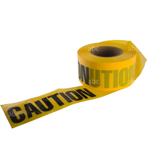 "Tape -- 3"" x 1000' - Barricade Tape - CAUTION CAUTION - Each"