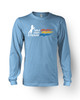 Mile High Stadium Long Sleeve T-Shirt in Baby Blue