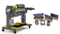 """Combo BendPak BB-2- Blue-Bullet Exhaust Pipe Bender with BB-2 (1.5-2.5"""") and 3"""" Tooling"""