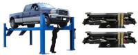COMBO of Atlas® 14KOF-EXT Open Front 4 Post Alignment Lift / Bridge Jacks(COMMERCIAL GRADE, EXTRA LONG)