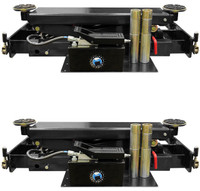 Pair of Atlas® RJ-8000 Air/Hydraulic Center Rolling Jack 8,000 Lbs. Capacity with Truck Adapters