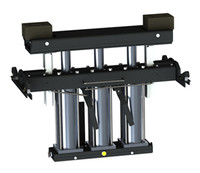 QSP  RJ-7000 7000 lb Pneumatic Pivoting Rolling Bridge Jack for Post or Scissor Lifts