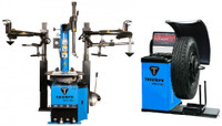 Triumph NTC-950-2 + NTB-1200 Tire Changer & Wheel Balancer + Wheel Lift