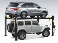 AMGO 409-HP 9,000 lbs. Capacity  4-Post  Tall Parking Auto Lift -Accessories included.