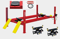 AMGO PRO-12A Combo 4-Post  12,000 lbs.  Alignment Lift - 2 x Rolling Jacks - Air Line Kit