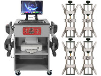 Atlas®  Platinum 501 Wireless 8 Camera Alignment Machine With 4 Point Clamps And Turntables