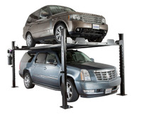 Dannmar D-7/X Portable Four-Post Parking Storage Lift - JULY PROMO-FREE 20 Gal Oil Drain