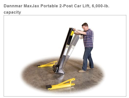 MaxJax Portable 2-Post Car Lift, 6,000-lb  capacity PROMO
