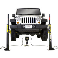MaxJax Portable 2-Post Car Lift, 6,000-lb. capacity  - November Promo: Free 8 Gallon Oil Drain