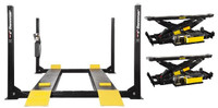 Dannmar  D-12  12,000 Lbs Capacity 4-Post Car Lift Service-Parking- Storage Lift  2 x Rolling Bridge Jack included
