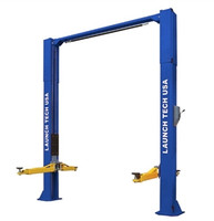 Launch TLT210-XT-B 10,000 Lbs Clear Floor Asymmetric 2 Post Lift (ALI Certified)