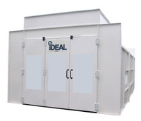IDEAL PSB-SEMIDD26ASY-AK - 1-Phase Ideal Paint Booth (26L x 14W x 9.3H - ID) Semi  Down Draft Booth