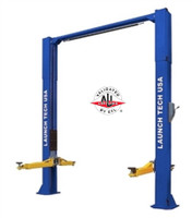 Launch TLT211-AS-B  BLUE 11,000 Lbs Clear Floor Asymmetric 2 Post Lift (ALI Certified) with Adjustable Column Height