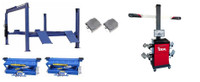 Buffalo Alignment Combo FP14KA/RAJ-8K Jacks  Post Alignment Lift w/IWA-60-1500-K Alignment System Combo