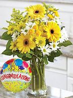 Festive Felicitations with Congratulations Balloon