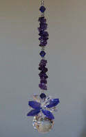 Amethyst & Crystal Ball Suncatcher