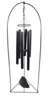 Windchime complete with Stand  - Black