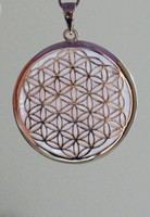 Flower of Life Pendant with Rose Quartz